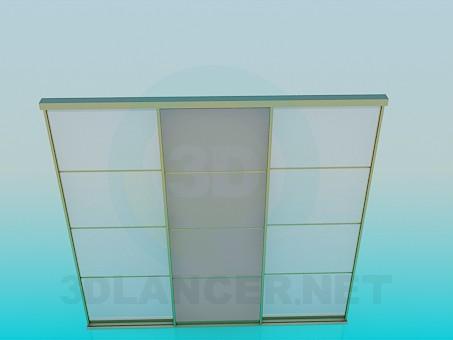 3d моделирование Двери раздвижные модель скачать бесплатно