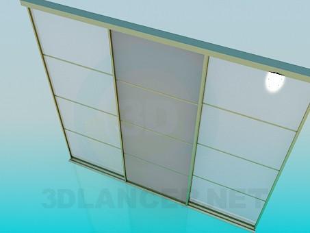 3d модель Двери раздвижные – превью