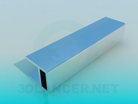 3d моделирование Профиль мебельный алюминиевый модель скачать бесплатно