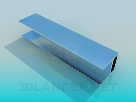 3d model Profile Furniture Aluminum - preview