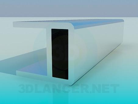 modelo 3D Muebles de Perfil aluminio - escuchar
