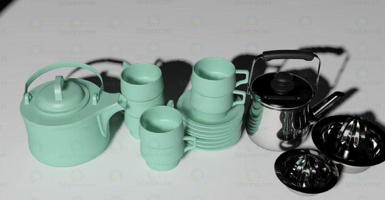 3d modeling cooking dishes model free download