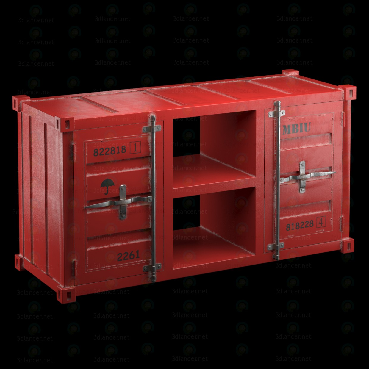 3d TV tables LOFT TV CONTAINER (4 COLORS) model buy - render
