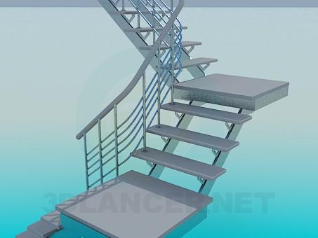 modelo 3D Escalera - escuchar