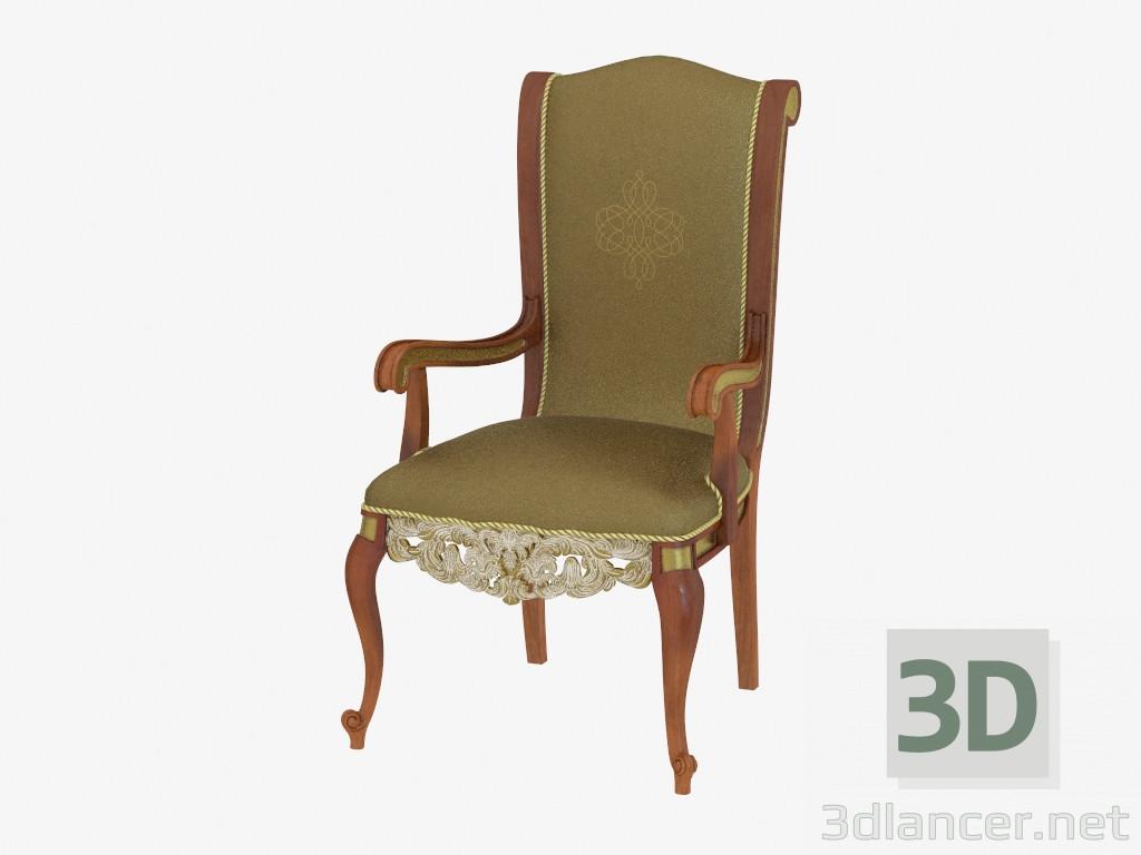 Modelo 3d silla de comedor con brazos de estilo cl sico 709 del fabricante ar arredamenti royal - Sillas de comedor con brazos ...