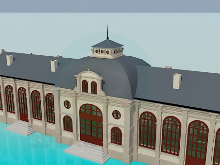 3d model Railway station - preview