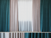 Curtains with tulle set 05