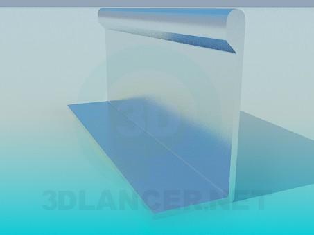3d модель Профіль меблевий алюмінієвий – превью