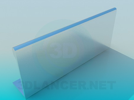 3d модель Профиль мебельный алюминиевый – превью