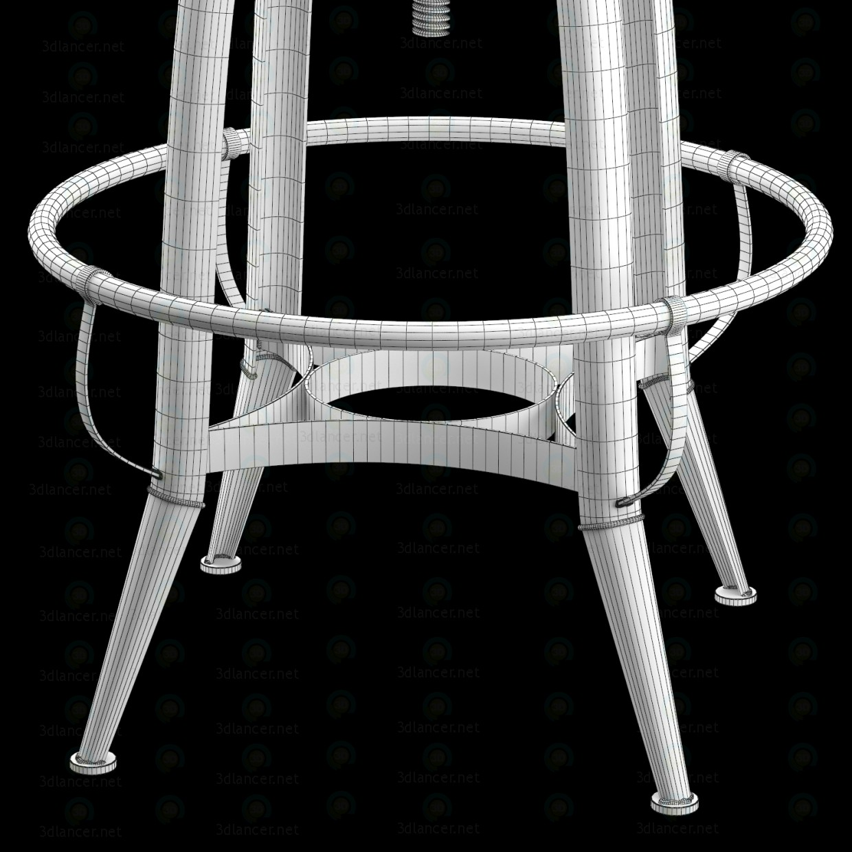 3d CHAIR LOFT INDUSTRIAL ROTATIVE PIN model buy - render