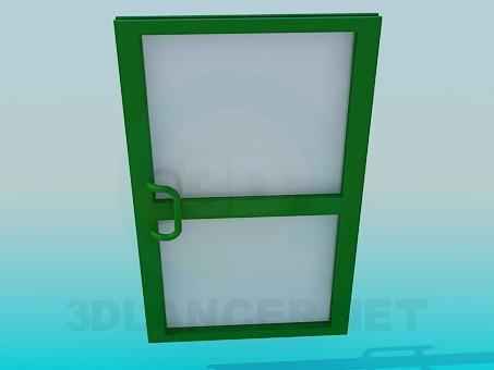 3d модель Дверь металлопластиковая – превью
