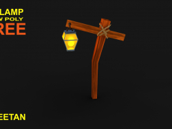 3D Lamp Game Asset - Low poly