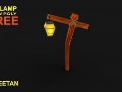 Asset del gioco della lampada 3D - Basso poli