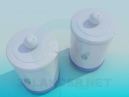 modelo 3D Bancos de cerámica - escuchar
