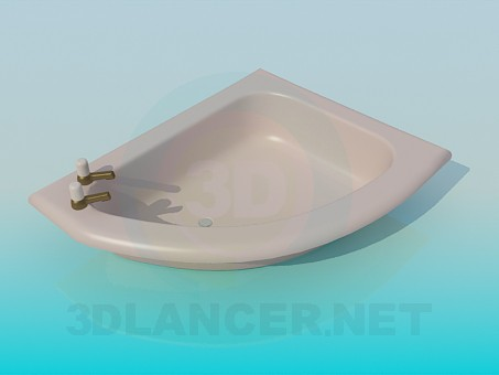 3d моделювання Дрібна ванна модель завантажити безкоштовно