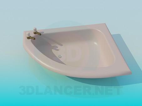 3d модель Мелкая ванна – превью