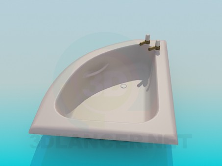 3d model Small bath - preview