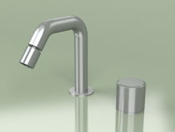 2-hole hydro-progressive bidet mixer with adjustable spout H 133 mm (16 36, AS)