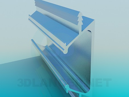 3d модель Профиль для мебели – превью