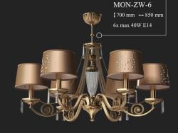 Chandelier KUTEK MONZA MON-ZW-6