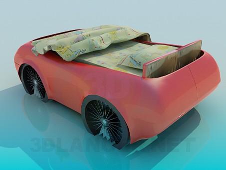 modelo 3D Cama de la máquina - escuchar