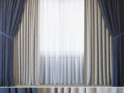 Curtains with tulle set 3 in 1