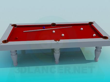 3d модель Більярдний стіл – превью