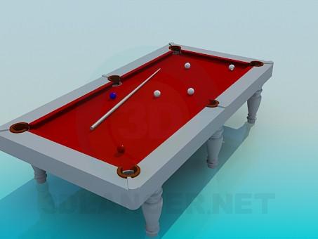 3d модель Бильярдный стол – превью