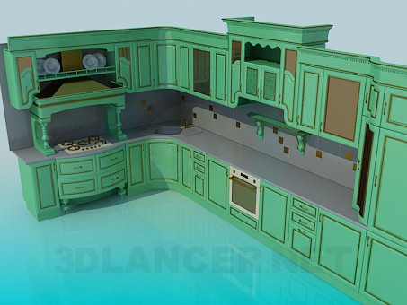 3d model Big kitchen set - preview