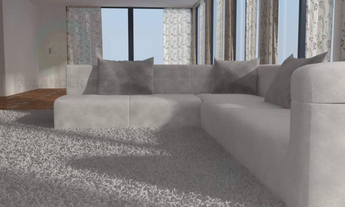 3d modeling Sofa in the living room model free download