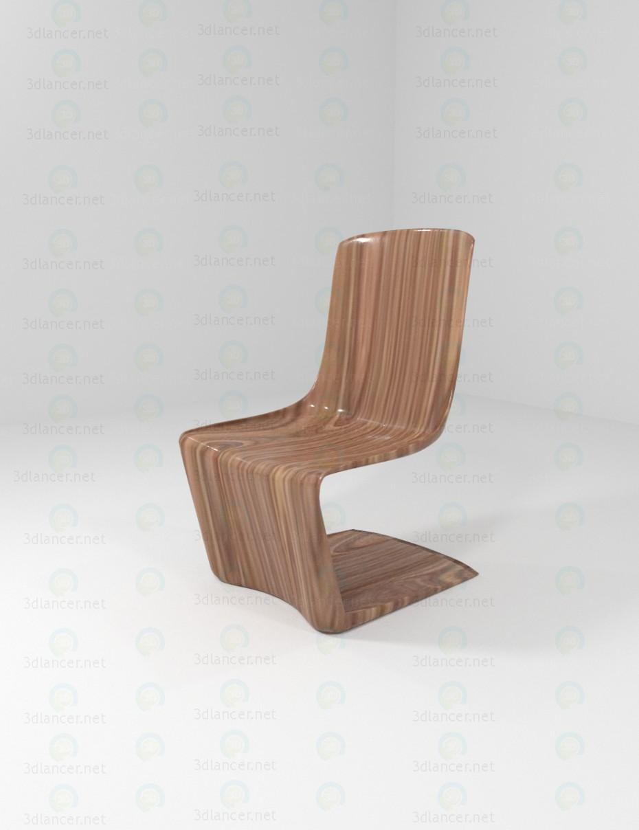 3d моделирование Стул деревянный модель скачать бесплатно