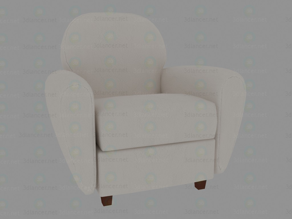 3d model Armchair Madonna Leather Snow - preview