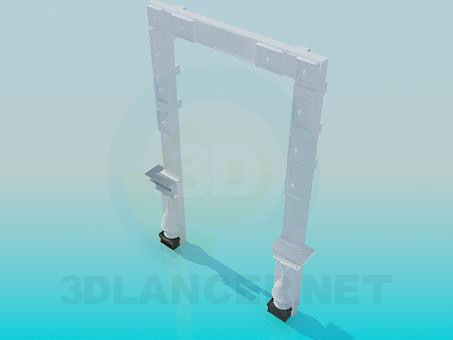 3d model Clypeus in doorway - preview