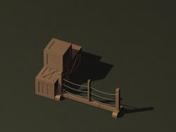 crates और parapet