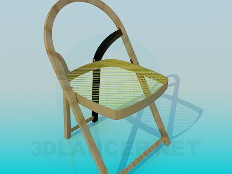 3d модель Розкладний стілець – превью
