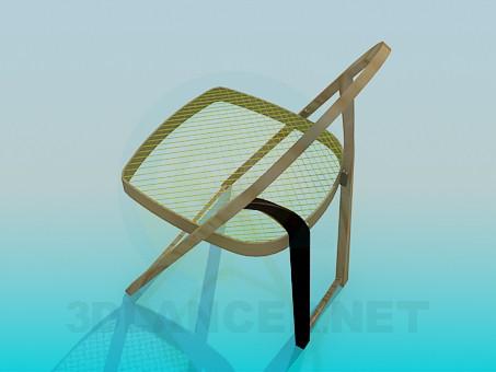 3d модель Раскладной стул – превью