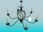 Chandelier with candles