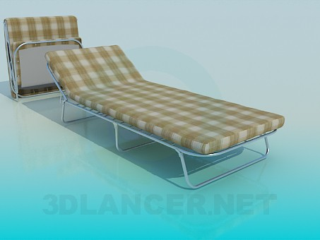 3d modeling Folding bed with mattress model free download