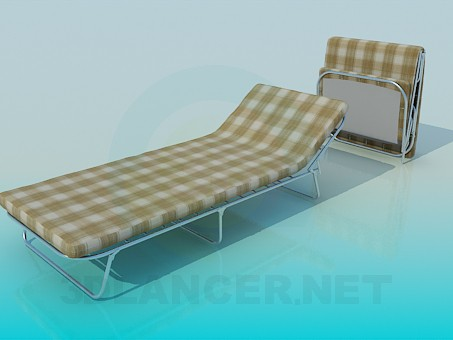 3d model Folding bed with mattress - preview
