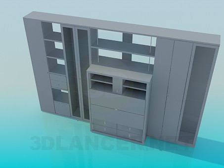 modelo 3D Muebles parietal - escuchar