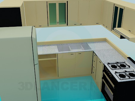 3d model kitchen set id 6940 for Model model kitchen set