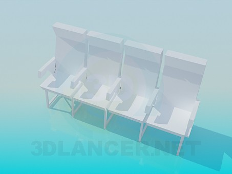 3d model The coupled chairs - preview