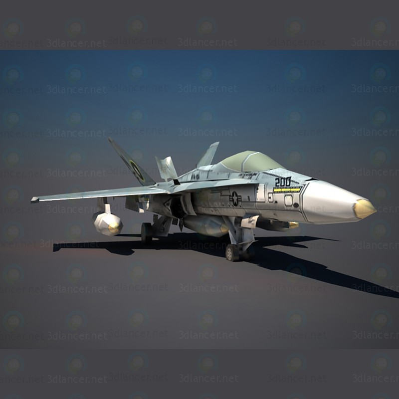Airplane F18 paid 3d model by irham desain preview