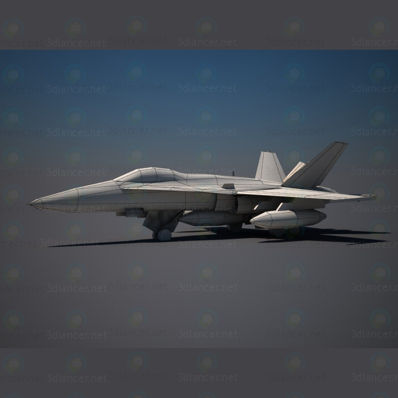 3d Airplane F18 model buy - render