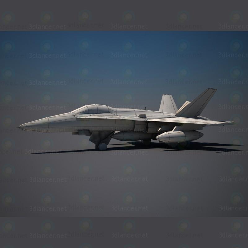 Avión F18 3D modelo Compro - render