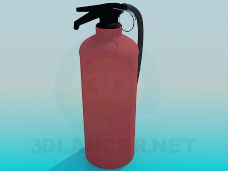 modelo 3D Extintor de incendios - escuchar