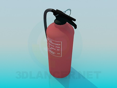 3d model Fire extinguisher - preview