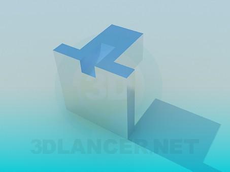 3d модель Ручка мебельная – превью
