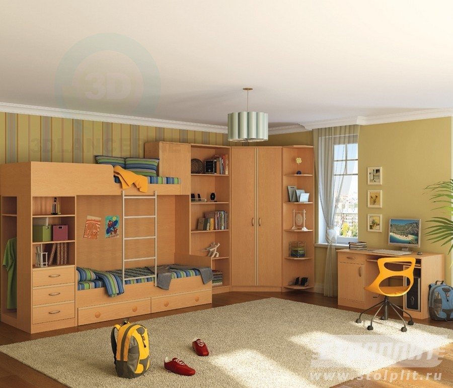 3d model Children's room Simba - preview