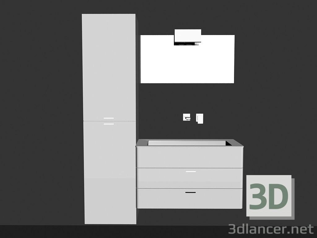 Modelo 3d Sistema modular para baño (canción 3) del fabricante ...